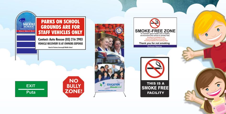 School Signage Invercargill Southland