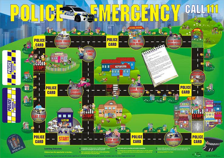 POLICE BOARD GAMES