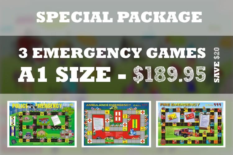 3 PACK EMERGENCY BOARD GAMES